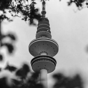 Der Heinrich Herz Fernsehturm von Hamburg