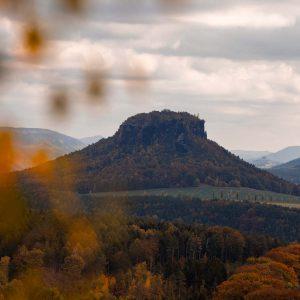 Der Lilienstein ist einer der markantesten Berge in der Sächsischen Schweiz in Sachsen