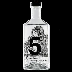 Produktfoto der 5 Continents GIN Flasche