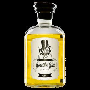 Produktfoto der Gentle Gin Saffron Flasche