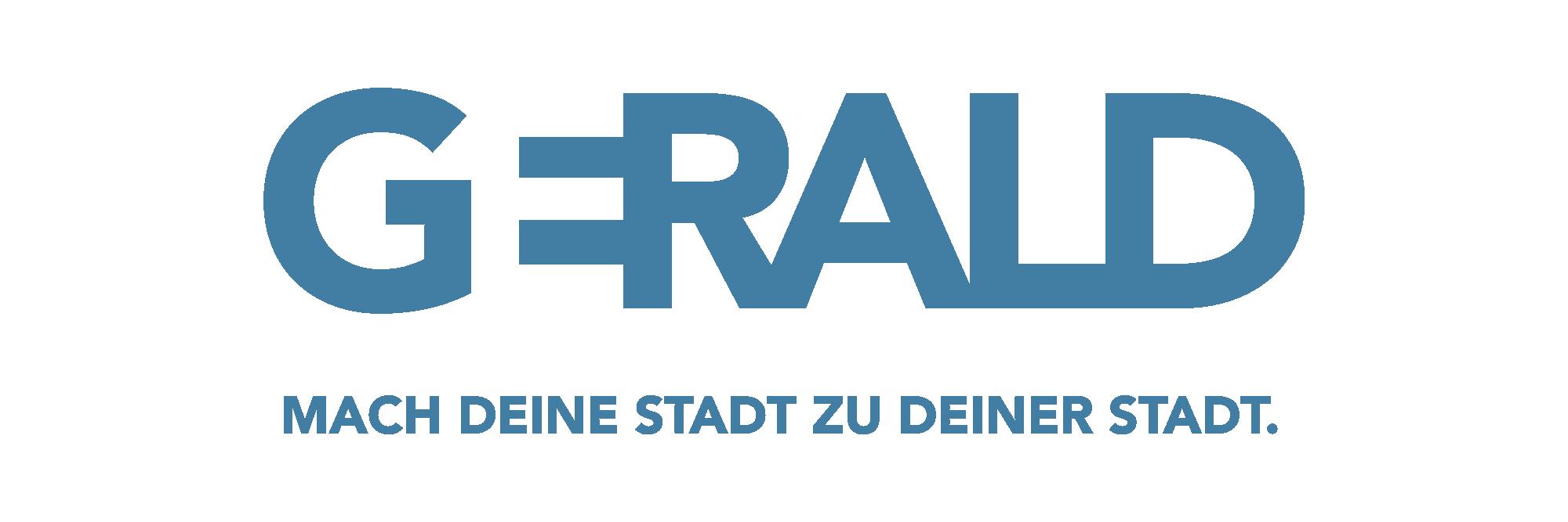 Das Logo der Kampagne GERALD mit dem Slogan: Mach deine Stadt zu deiner Stadt