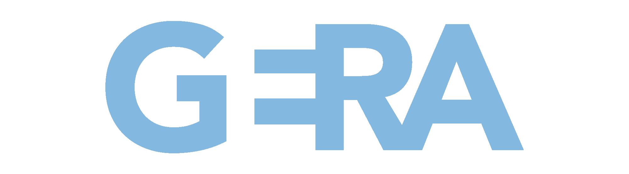 Das neue Logo der Stadt Gera in hellem Blau.
