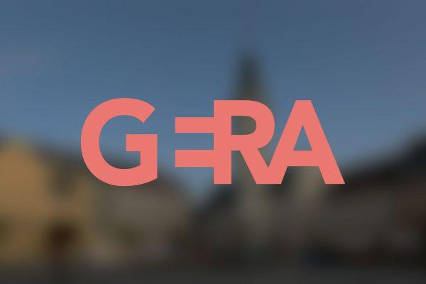 Titelbild mit neuem Gera Logo Branding