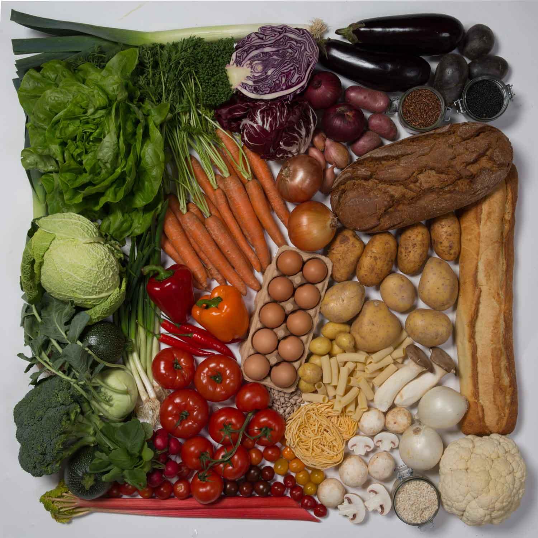Die unbearbeitete Version des Bildes der Gemüse Collage