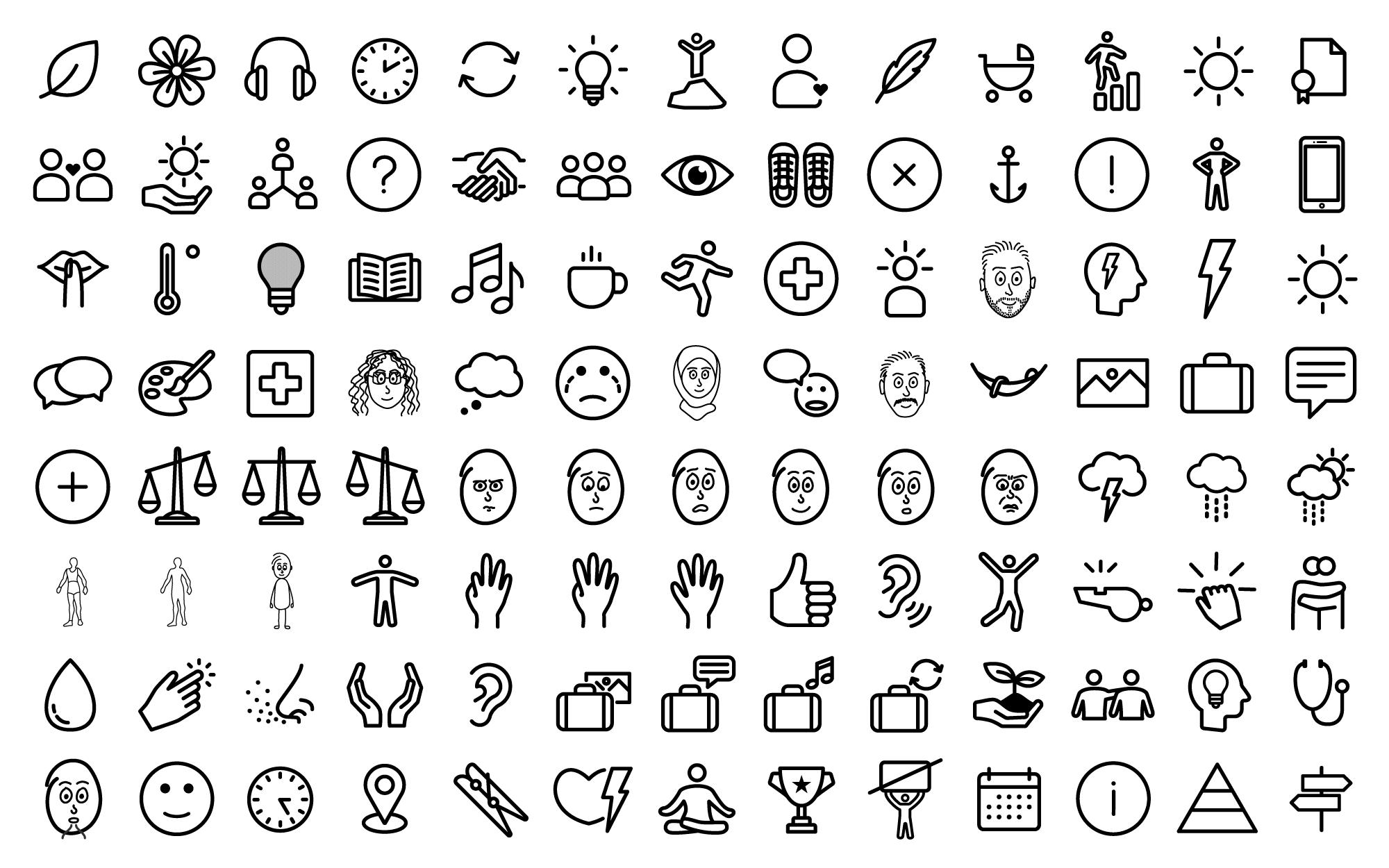 Über 100 Icons im Flat Design Look, passend zu den Videos der animierten Erklärvideoserie.