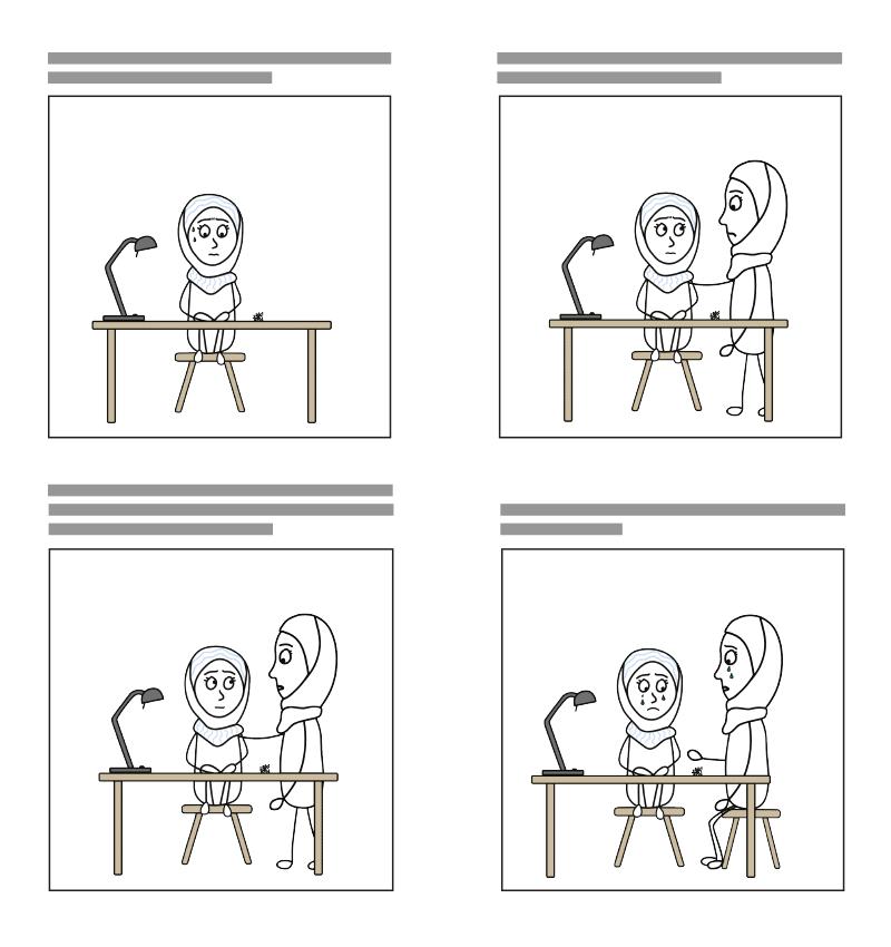 Ein kleiner Ausschnitt aus dem illustrierten Storyboard der animierten Erklärvideo Serie
