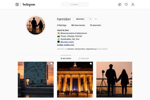 Ein Screenshot von unserem Instagram Account